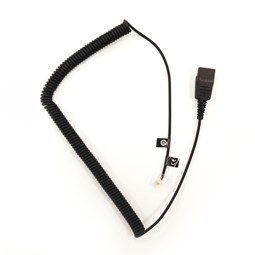 Direct Connect Curly Cord for Jabra Corded Headsets
